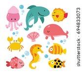 aquarium vector design | Shutterstock .eps vector #694833073