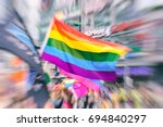 abstract motion blurred picture ... | Shutterstock . vector #694840297