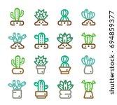 cactus succulent plant thin... | Shutterstock .eps vector #694859377