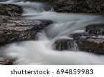 Fast Flowing Water In A Creek...