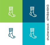 sock green and blue material...