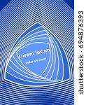 blue abstract flyer template.... | Shutterstock .eps vector #694876393