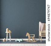 children's room in... | Shutterstock . vector #694879747