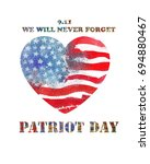 patriot day the 11th of... | Shutterstock . vector #694880467