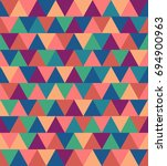 texture of colored triangles... | Shutterstock . vector #694900963