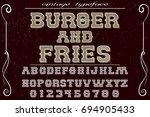 script handcrafted vector...   Shutterstock .eps vector #694905433