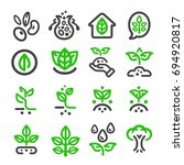 plant thin line icon | Shutterstock .eps vector #694920817