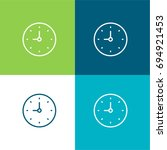 clock green and blue material...