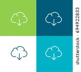 cloud computing green and blue...
