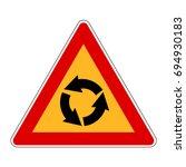 korea traffic safety sign ... | Shutterstock .eps vector #694930183