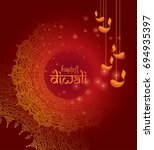 diwali design template with... | Shutterstock .eps vector #694935397