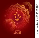 indian festival  diwali design... | Shutterstock .eps vector #694935403