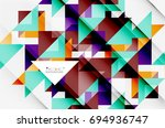 triangle pattern design... | Shutterstock .eps vector #694936747