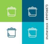 pot green and blue material... | Shutterstock .eps vector #694936873