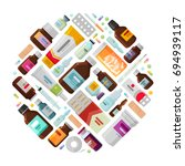 medicine concept. drug ... | Shutterstock .eps vector #694939117