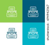typewriter green and blue...