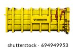 yellow radioactive nuclear... | Shutterstock . vector #694949953