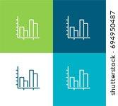 statistics green and blue...