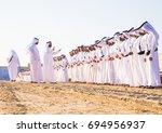 men perform yawalah traditional ... | Shutterstock . vector #694956937