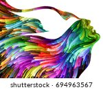 bird of mind series.... | Shutterstock . vector #694963567