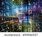 digital city series. artistic... | Shutterstock . vector #694966537