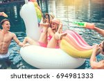 group of friends together in... | Shutterstock . vector #694981333