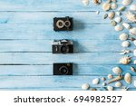 travel tourism objects isolated ... | Shutterstock . vector #694982527