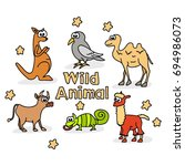 wild animal doodle set | Shutterstock .eps vector #694986073
