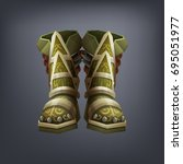 iron fantasy armor boots for... | Shutterstock .eps vector #695051977