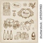 Vintage Set. Wine