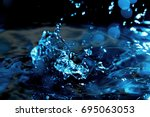 Small photo of Water background / Water is a transparent and nearly colorless chemical substance that is the main constituent of Earth's streams, lakes, and oceans, and the fluids of most living organisms