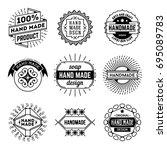 simple mono lines logos... | Shutterstock .eps vector #695089783