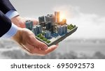 concept of industrial... | Shutterstock . vector #695092573