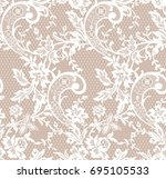 seamless floral lace pattern ... | Shutterstock .eps vector #695105533