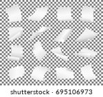 blank paper sheets falling down.... | Shutterstock . vector #695106973