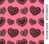 seamless pattern with... | Shutterstock .eps vector #695108653