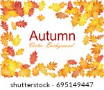 autumn vector background with... | Shutterstock .eps vector #695149447