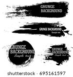 vector set of grunge artistic... | Shutterstock .eps vector #695161597