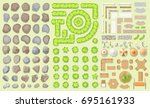 vector set. collection of... | Shutterstock .eps vector #695161933