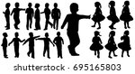 isolated silhouette children ... | Shutterstock . vector #695165803