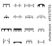 bridge icon set | Shutterstock .eps vector #695170753