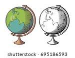 stylized vector illustration of ... | Shutterstock .eps vector #695186593
