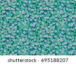 elegant floral pattern in small ... | Shutterstock .eps vector #695188207
