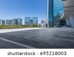 empty floor with modern... | Shutterstock . vector #695218003