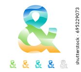 ampersand sign collection for... | Shutterstock .eps vector #695229073