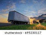truck on the road | Shutterstock . vector #695230117