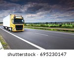 truck transportation | Shutterstock . vector #695230147