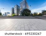 empty floor with modern... | Shutterstock . vector #695230267