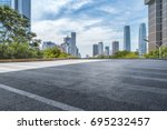 empty floor with modern... | Shutterstock . vector #695232457