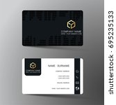 business card. inspired by... | Shutterstock .eps vector #695235133